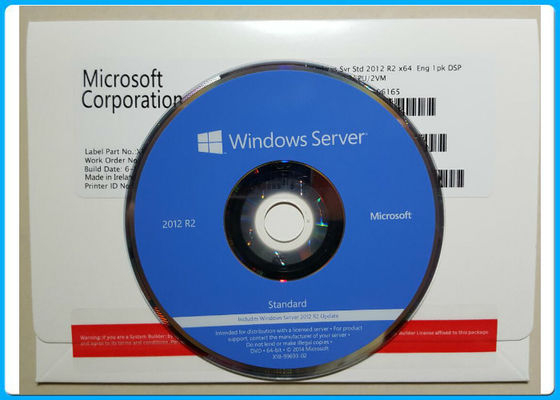 Caixa varejo 1PK DVD 2CPU de Windows Server 2012 do inglês do padrão R2/bloco OEM do VM